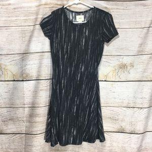 Maeve black and white striped dress xs #409